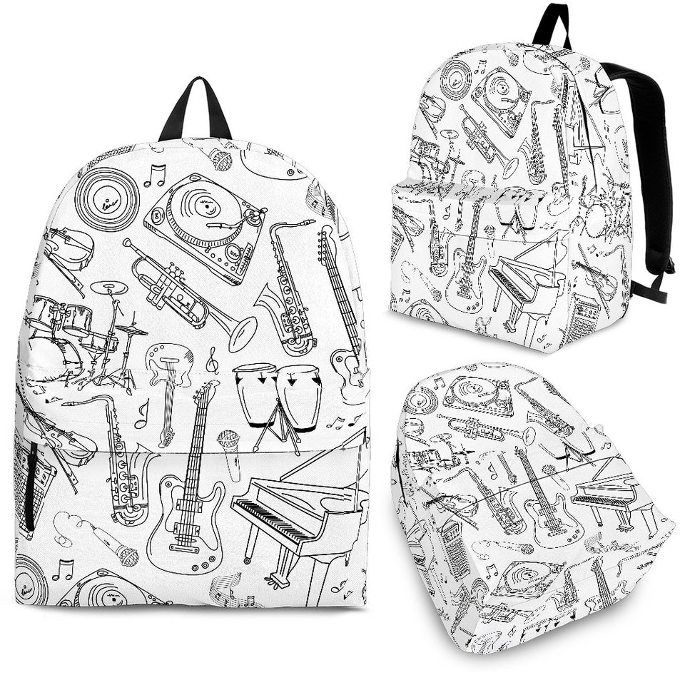 Backpack Music Instruments white