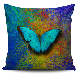 butterflies on pillow case
