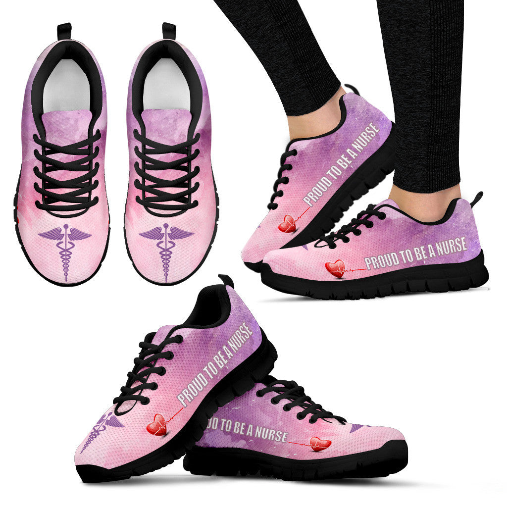 Nurse Sneakers - Pink black