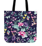 FLORAL COLLECTION - Navy Canvas Bag