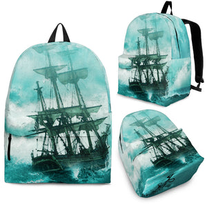 Kid's Backpack Ship In A Storm