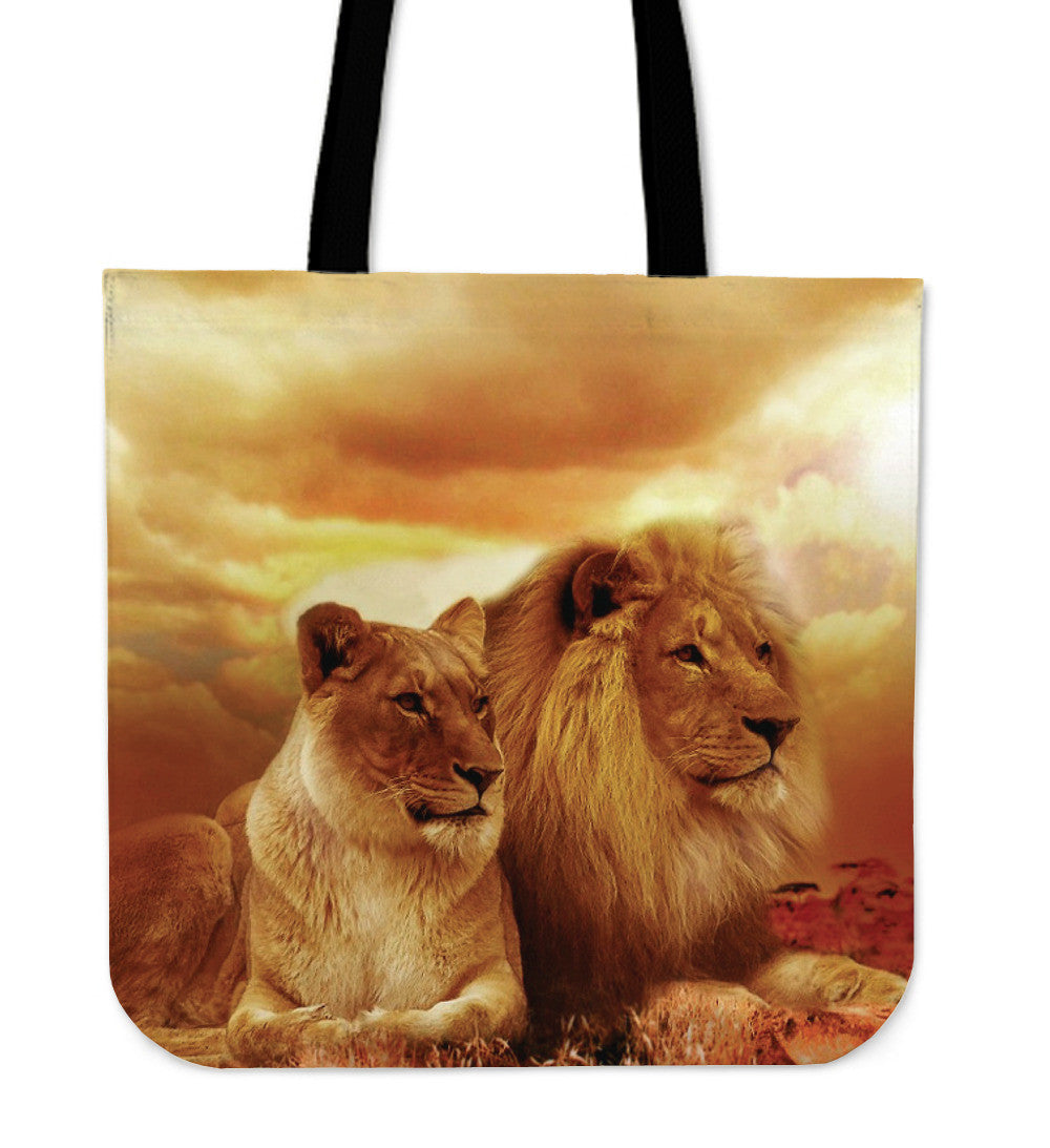 Tote Bag Lion Couple