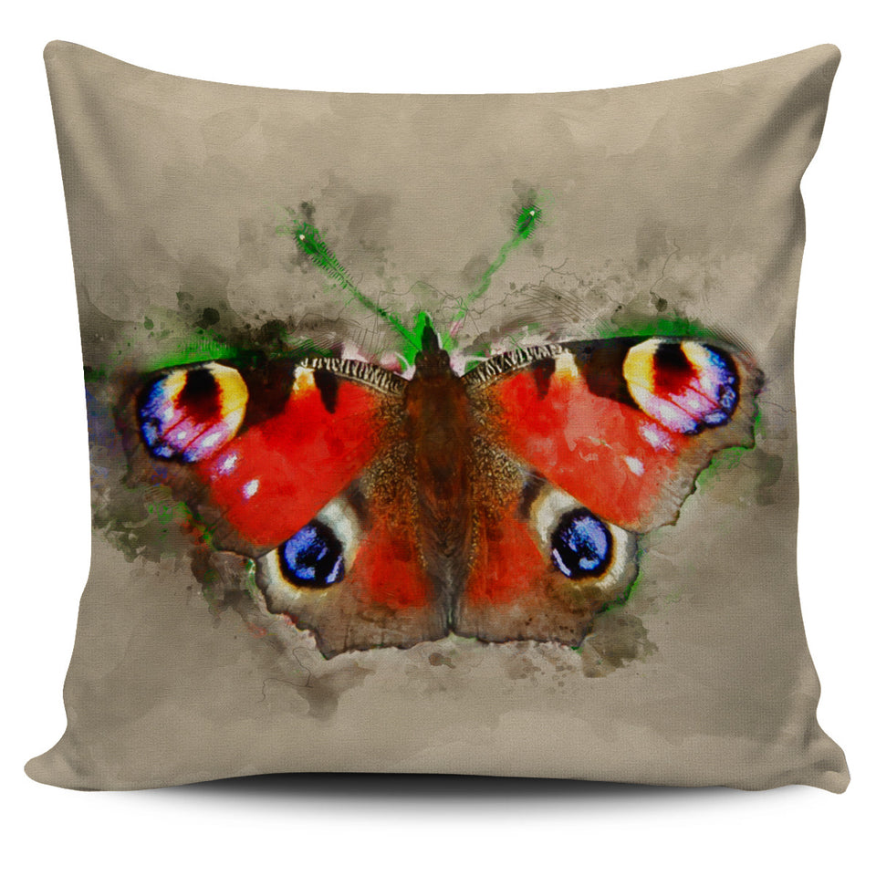 butterfly irish peacock pillow cover