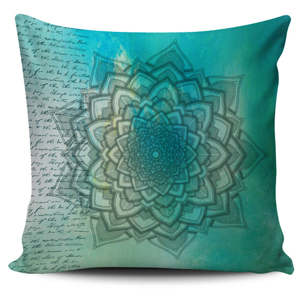 Pillow Cover Mandala Blue
