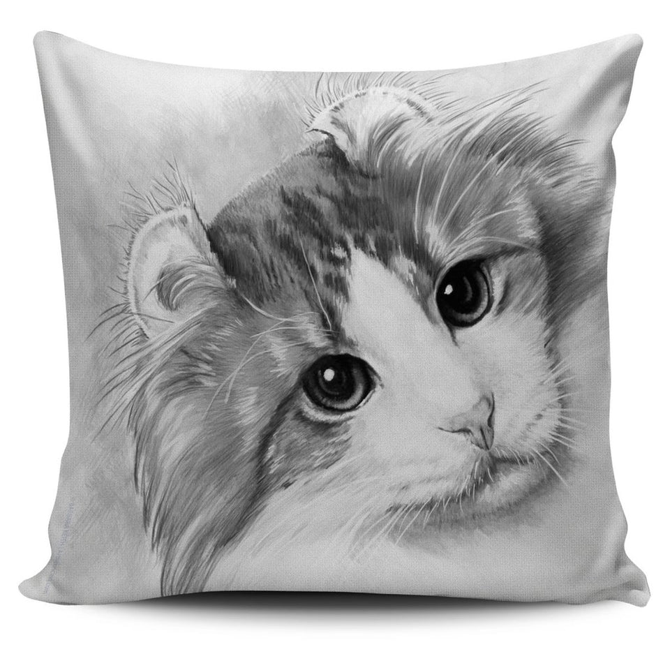 Pillow Covers American Curl black and white