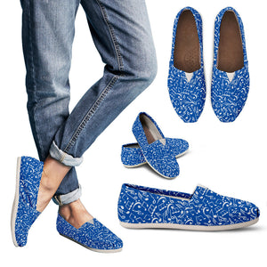 Casual Shoes Music Notes blue
