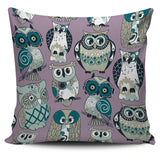 Pillow Cover Owl purple