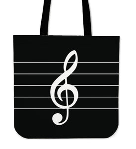 Tote Bag Music Note black