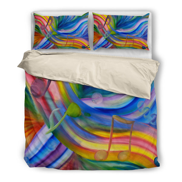 Bedding-Colorful Rainbow - Music Notes