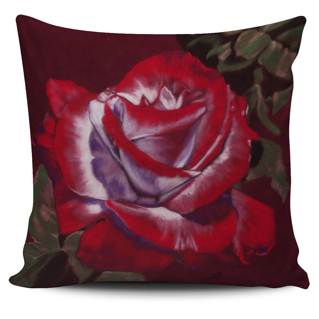 Pillow Cover Red Rose