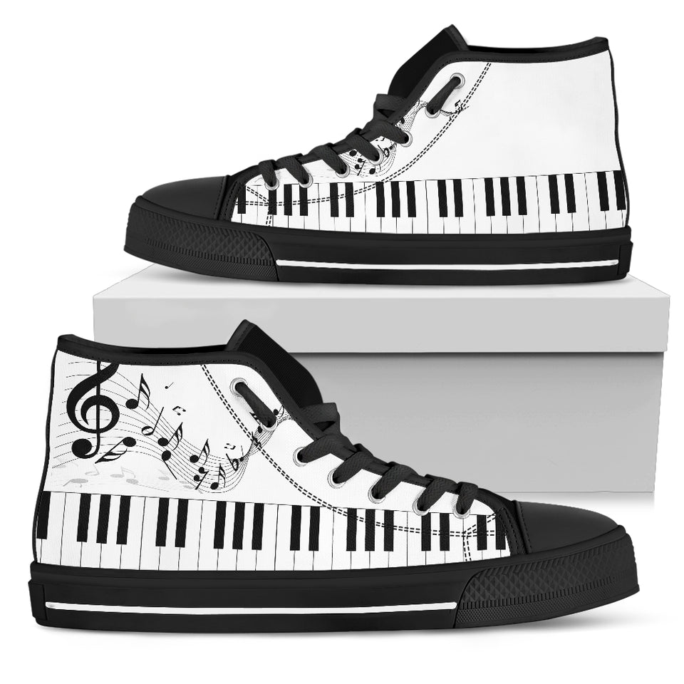 music notes piano high top shoes