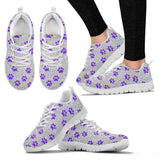 Women's paw prints sneakers