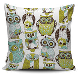 Pillow Cover Owl green
