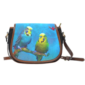 Saddle Bag with Budgie print- Gift Idea - Algarve Online shop- Buy online