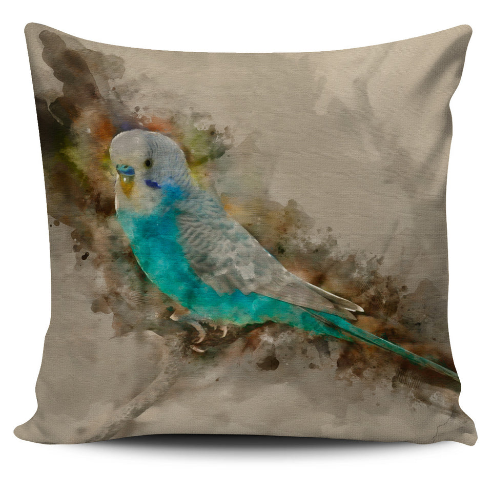 blue parakeet pillow case