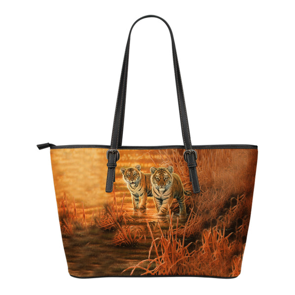 Leather Tote Tiger Collection