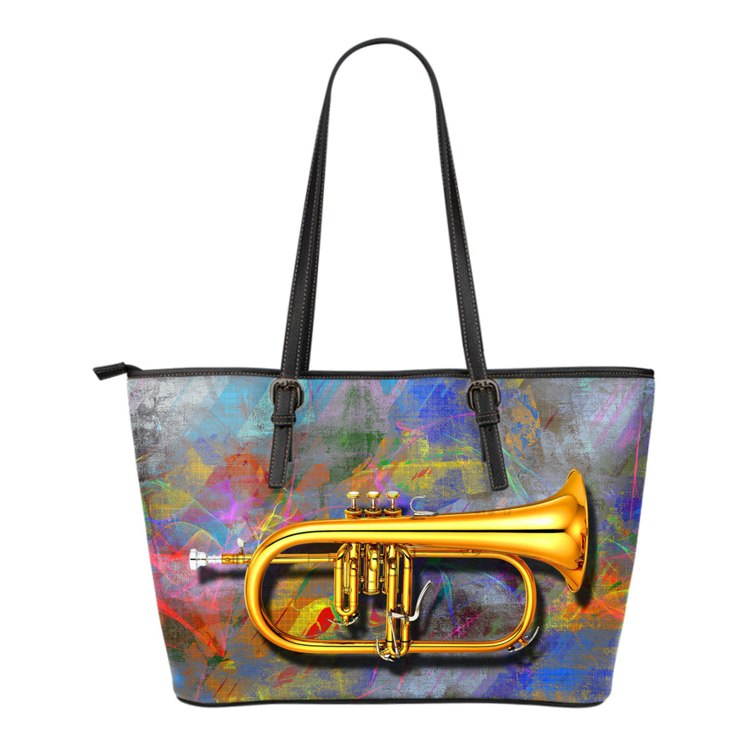 Leather tote barg Music Trumpet
