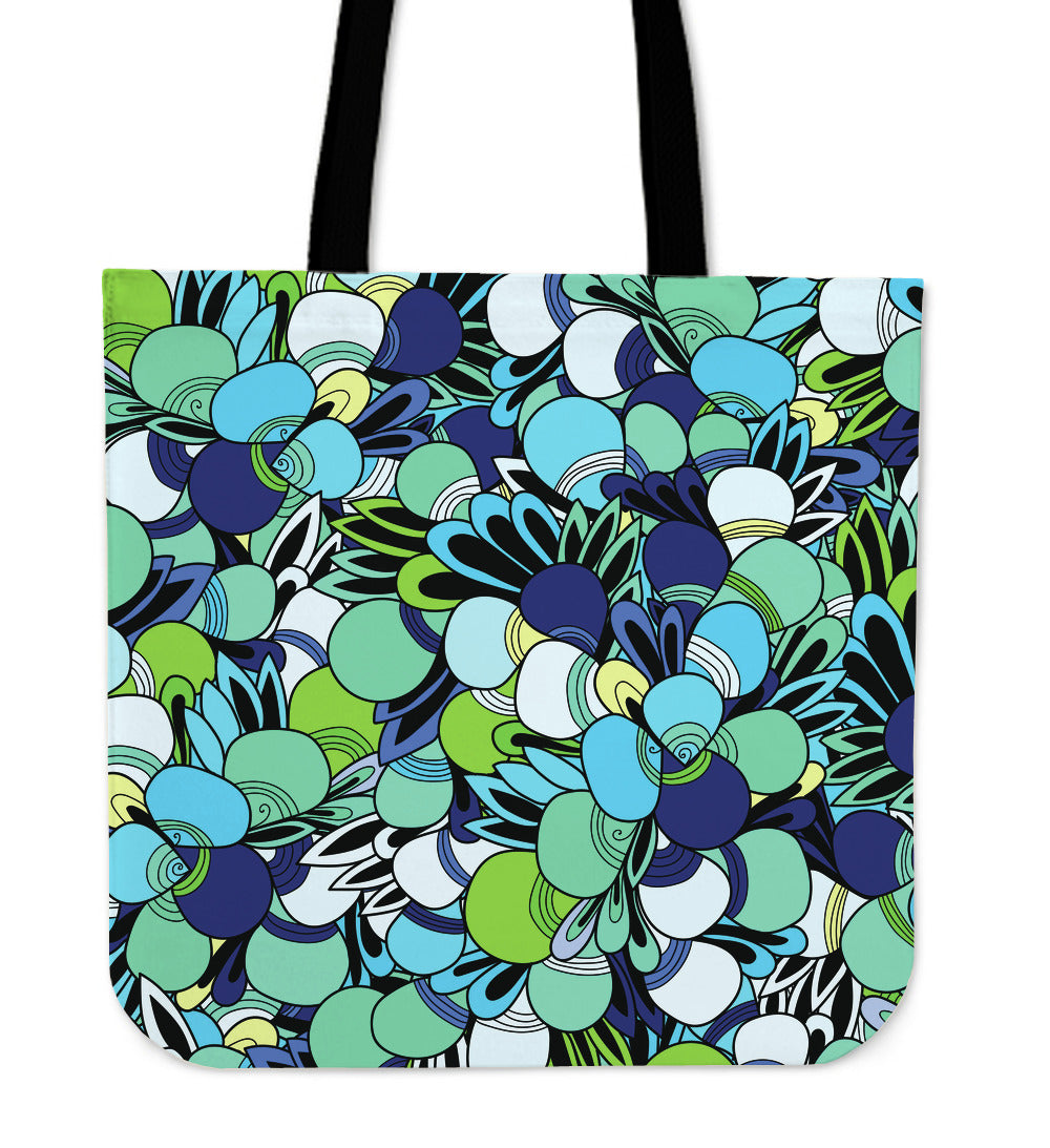 Funky Patterns in Blues - Cloth Tote Bag