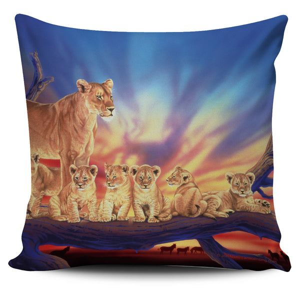 Pillow Cover - Lions - Innocence
