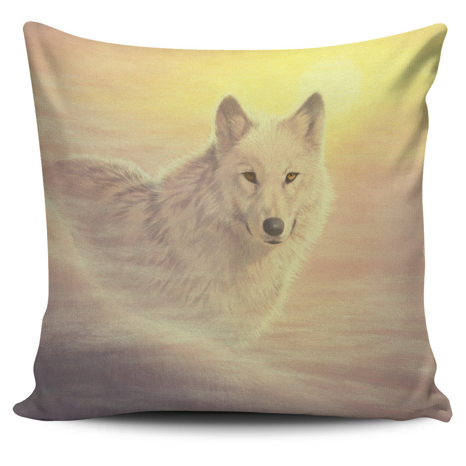 pillow cover howling wolf yellow -algarve online shop