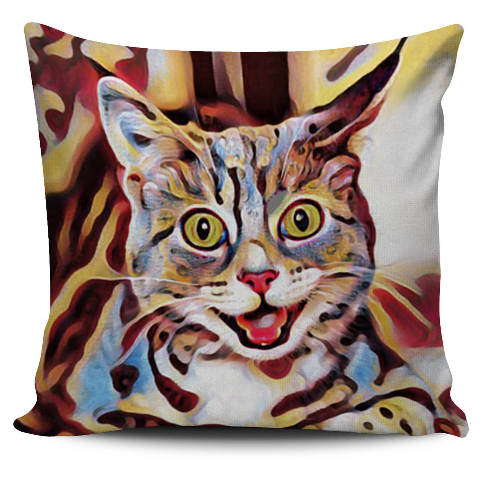 Smile Cat Pillow Cover