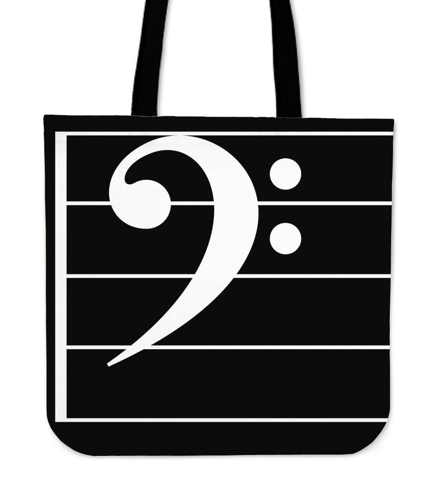 Tote Bag Music Note Bass Clef