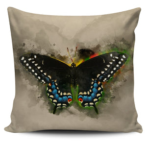 butterfly black swallowtail pillow cover
