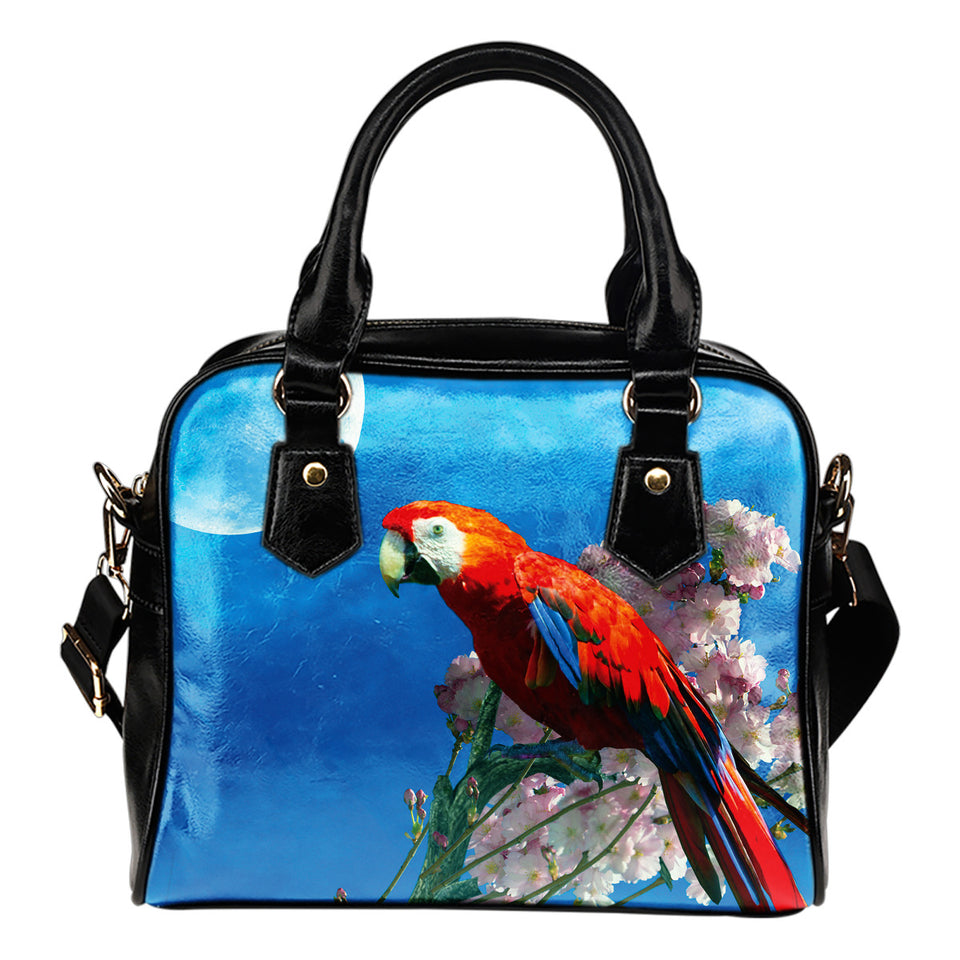 shoulder handbag red parrot- algarve online shop