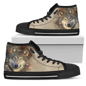 Women's High Top Shoe - I am a Wolf