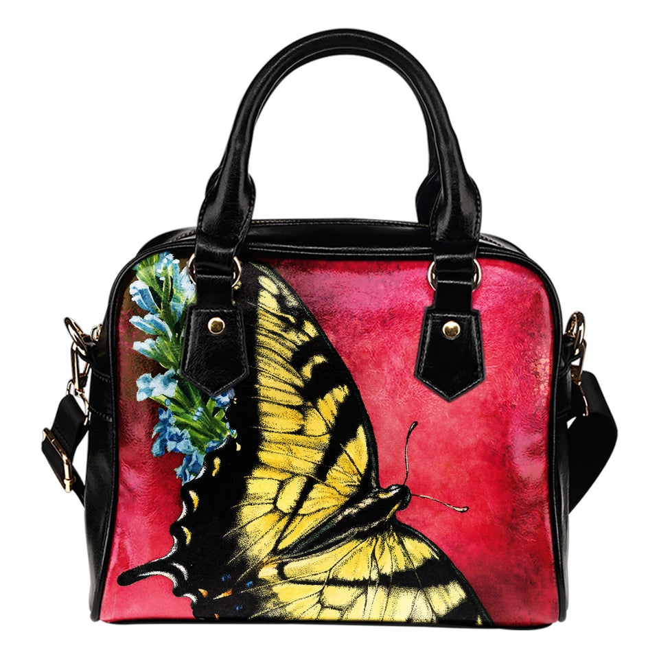 shoulder handbag butterfly red- algarve online shop