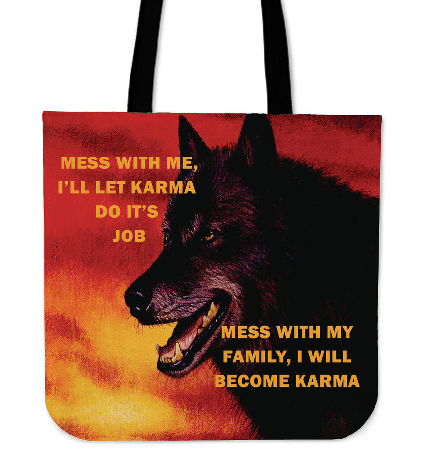 Tote Bag Wolf Mess with me