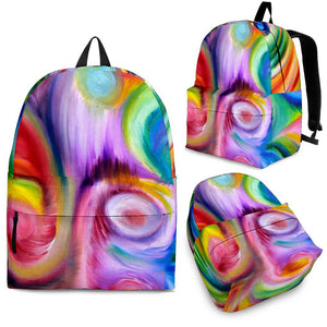 Backpack Abstract Art Pink
