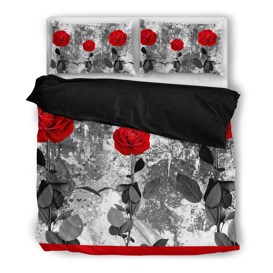 Bedding - Red Roses black algarve online shop