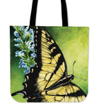linen tote bag butterfly