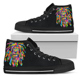 High top Rasta Lion black