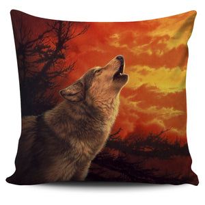 Pillow Cover Wolf Evening Glow