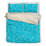 Music Notes Blue Bedding Set