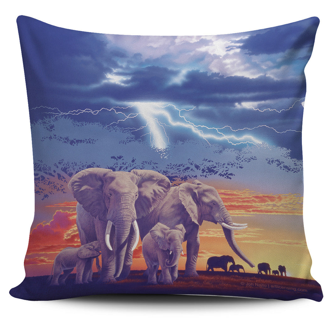 Pillow Cover - Elephants - Sacred Family
