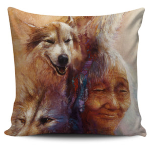 Pillow Covers - Indian Wolves lady medicine