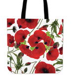 Tote Bag Poppies White