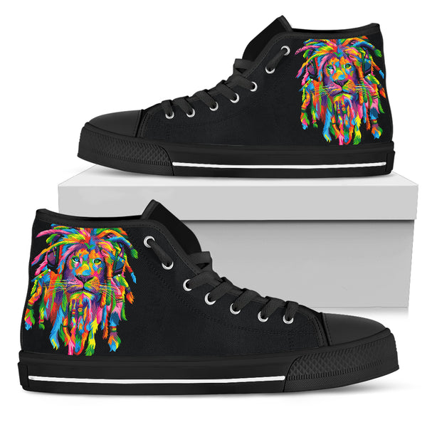 High top Rasta Lion