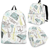 Backpack Music Instruments pastel