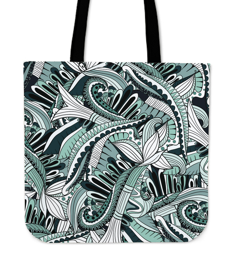 Funky Patterns in Blacks - Cloth Tote Bag