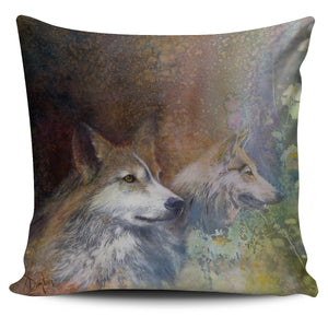 Pillow Covers - Indian Wolves american natives
