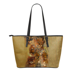 leather tote bag bit cats. algarve online shop