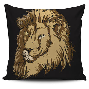 Wild Lion Pillow Cover