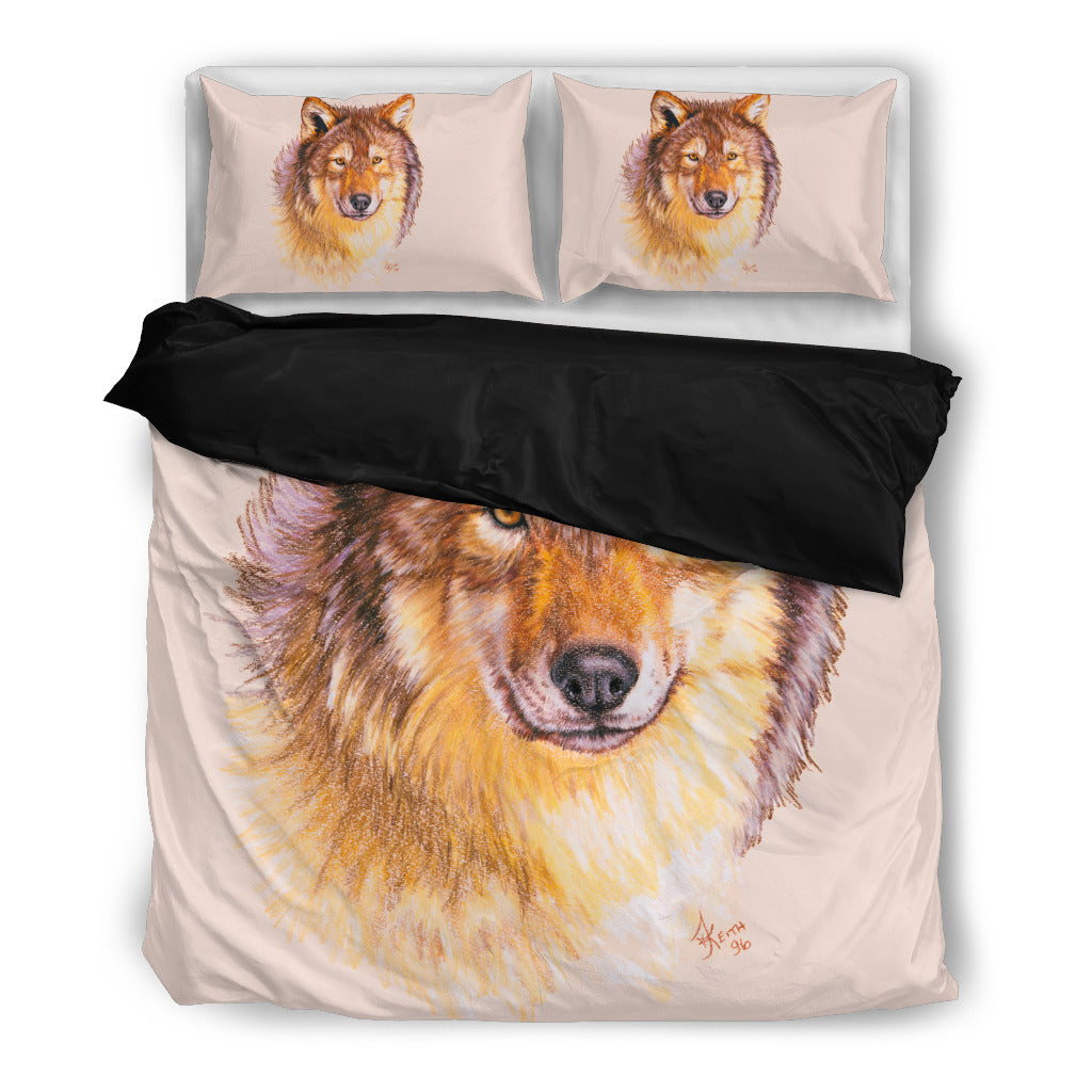 Bedding Wolf : Lobo black