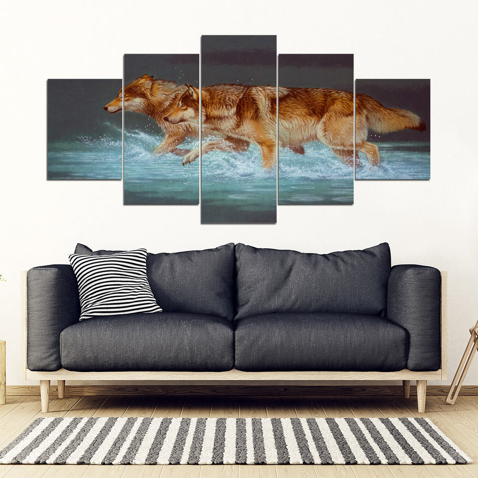 Wolf art  5 pieces Framed canvas algarve online shop