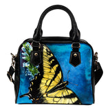 shoulder handbag butterfly blue- algarve online shop