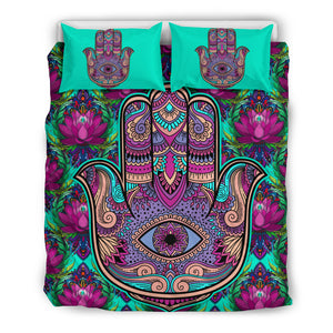 Hamsa Lotus Bedding Set
